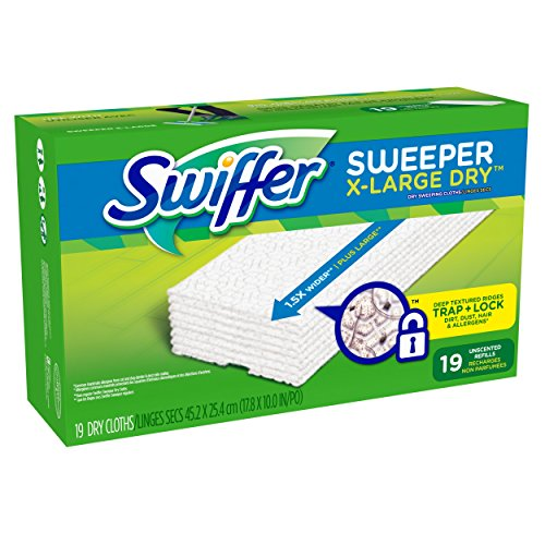 Swiffer Sweeper XL Dry Sweeping Pad Refills for Floor mop Unscented 19 Count (Swiffer Mop And Broom Refills compare prices)