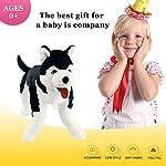 Houwsbaby Large Lifelike Husky Stuffed Animal Soft Dog Plush Toy Cuddly Alaskan Malamute Puppy Gift for Kids Boys Girls Pets Home Decoration Holiday Birthday, 27.5'' (Husky) 12
