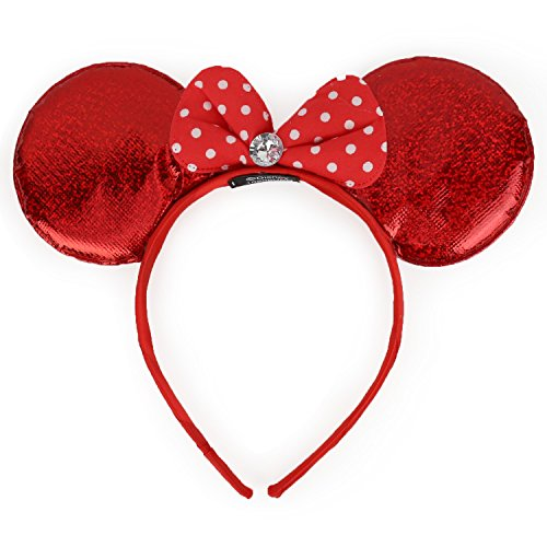 Trendy Apparel Shop Girl's Minnie Mouse Ear Shaped Foil Headband - (Juniors One Clothing Foil)