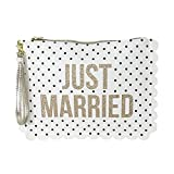 'Just Married' Clutch Wristlet, Polka Dot