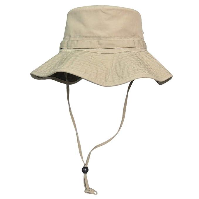 cf6eac5e51137 Phaiy 100% Cotton Booney Fishing Bucket Men Safari Summer String Hat Cap