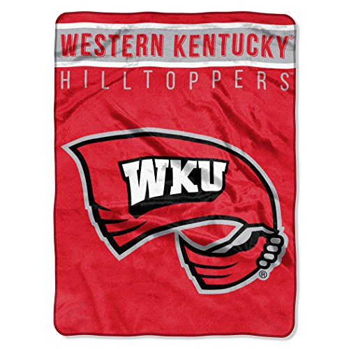 THE NORTHWEST COMPANY Officially Licensed NCAA Western Kentucky Hilltoppers Basic Plush Raschel Throw Blanket, 60