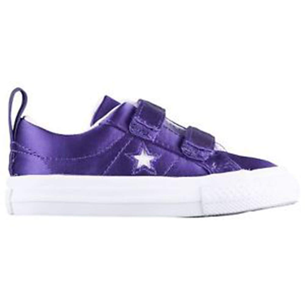 Converse One Star 2V OX Court Shoes Purple//White White Size 5 Toddler