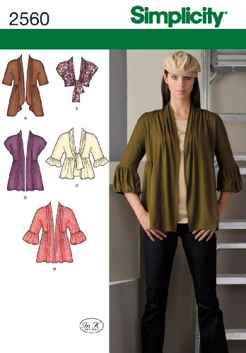 Simplicity Sewing Pattern 2560 Misses Jackets and Coats, K5 (8-10-12-14-16)