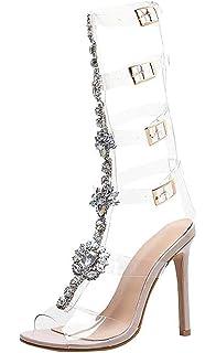 76c860802c Amazon.com   NEWONESUN High Heel Sandals 2019 New Shoes Buckle ...