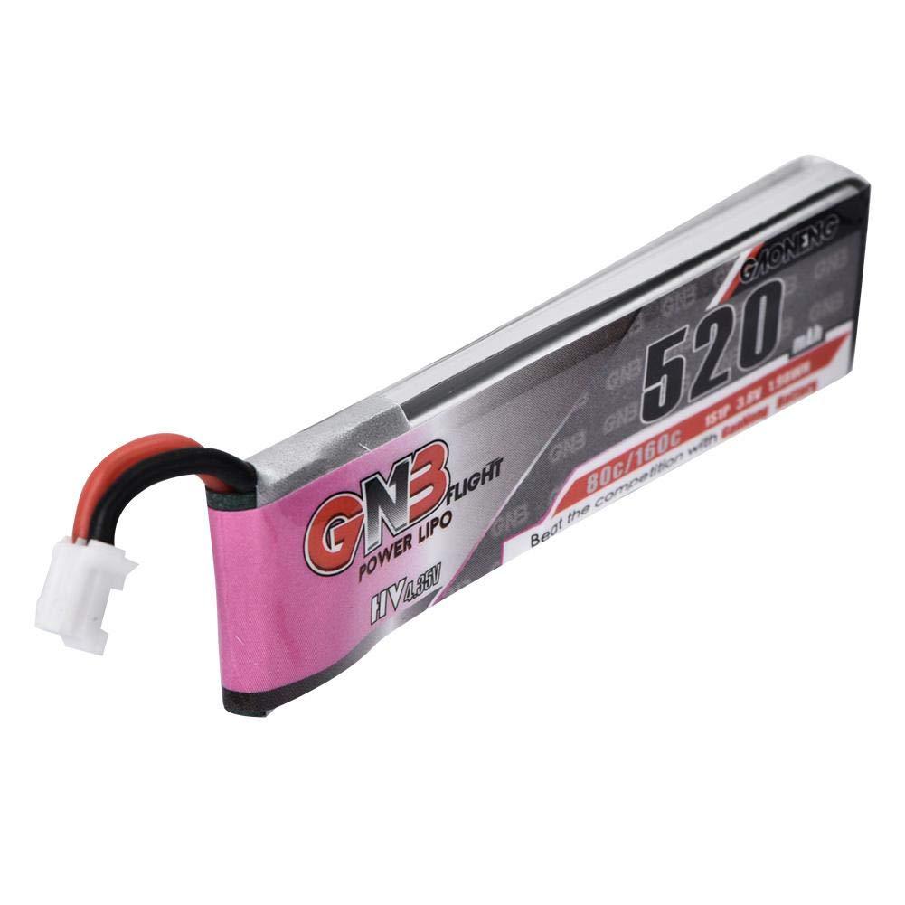 Drfeify 4pcs 3.8V 520mAh 1S 80C 160C 1S PH2.0 Bater/ía de Litio para Emax Tinyhawk Kingkong LDARC Tiny
