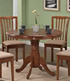40 inch round dining table - Coaster Home Furnishings Pedestal Round Dining Table Dark Oak Finish