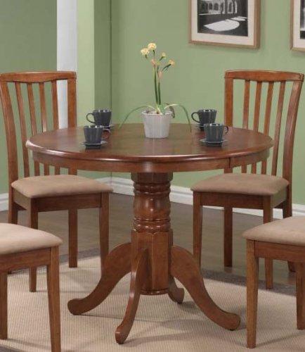 Pedestal Round Dining Table Dark Oak (Round Single Pedestal Table)