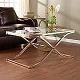 glass and brass coffee table - Wildon Home Winston Rectangular Glass Metal Coffee Table