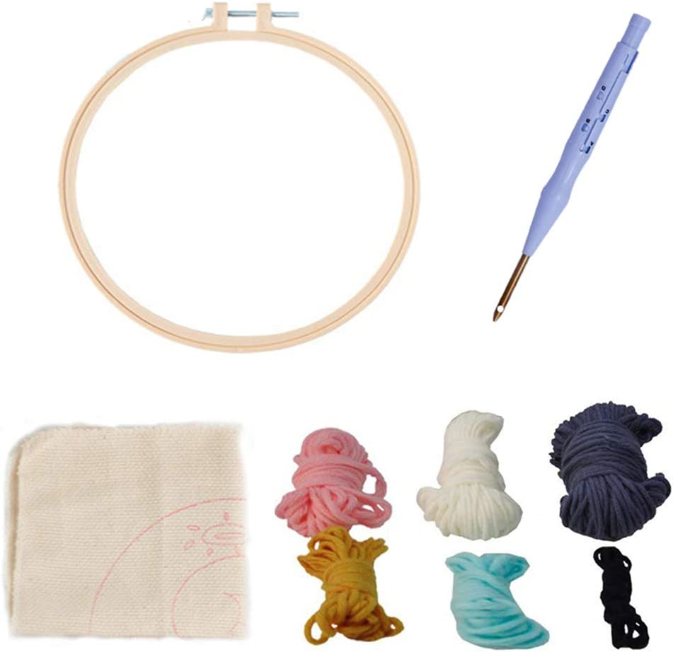 Punch Needle Starter Kit Punch Needle Embroidery Starter Kits for Craft Hooking Beginner Kit with an Adjustable Embroidery Pen Punch Needle Tool Hooking Beginner Kit for Beginner Blue