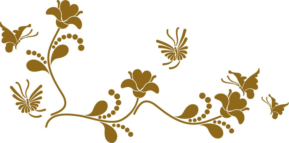 GRAZDesign Wall Tattoo Blaumen - Wanddekoration Wandtattoo Ornament - Wanddeko Wandtattoo Blaumenranke - Wandtattoo Schmetterling   101x50cm   azurblau   850109_50_052 B07DVLHHBQ Wandtattoos & Wandbilder