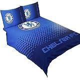 Chelsea FC Official Fade Reversible Football Crest Double Duvet Set (Full) (Blue)
