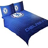 Chelsea FC Official Fade Reversible Football/Soccer Crest Double Duvet Set (Twin Bed) (Blue)