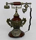 Retro style push button dial desk telephone / Home decorative # 1722