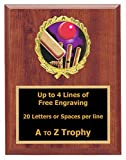 Cricket Plaque Awards 5x7 Wood Sports Trophy Tournament Trophies Free Engraving