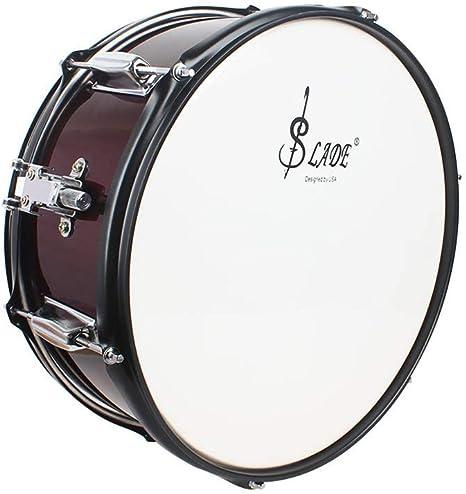 Snare Drum Tambor de Caja Color Rojo Vino Instrumento de percusión: Amazon.es: Deportes y aire libre