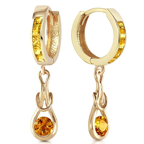 ALARRI 2 Carat 14K Solid Gold Love Knot Citrine Earrings by ALARRI