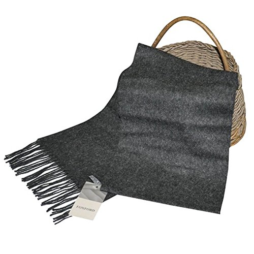 Luxury Lambswool Scarf, 100% Real lrish Wool, Handmade in Ireland, Gray (Scarf Mens Wollen)