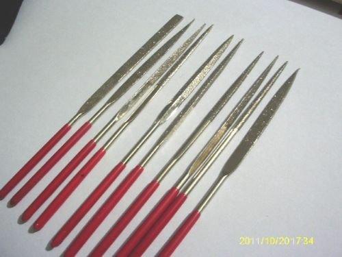 10 pcs 140mm X3mm Mini Diamond Needle Files Set fo...