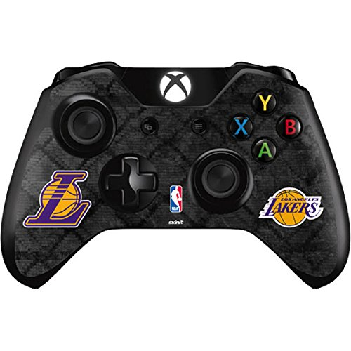 NBA Los Angeles Lakers Xbox One Controller Skin - Los Angeles Lakers Dark Rust Vinyl Decal Skin For Your Xbox One Controller by Skinit