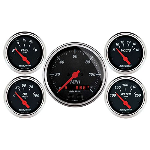 Auto Meter (1450) 5-Piece Gauge Kit by Auto Meter