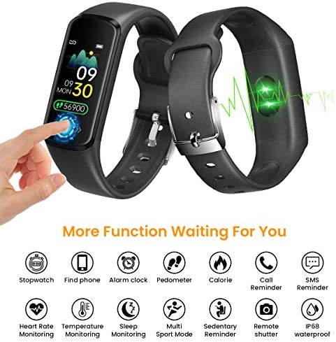 CanMixs Fitness Tracker Watch for Kids Girls Boys Teens,Activity Tracker,HD Color Screen Heart Rate Sleep Monitor,Pedometer,Calorie Counter,Alarm Clock,IP68 Waterproof Sport Digital Watch Women Men 2