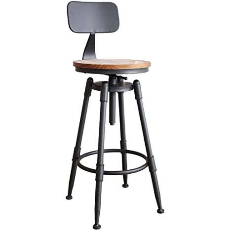 Amazon.com: ZHEN GUO Industrial Black Counter Height Bar ...