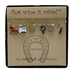 Wine Things WT-1476P Equestrian Wine Charms, Painted