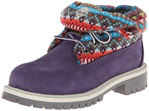 (Timberland Roll-Top Boot (Toddler/Little Kid/Big Kid),Purple/Multi,6 M US Big Kid)