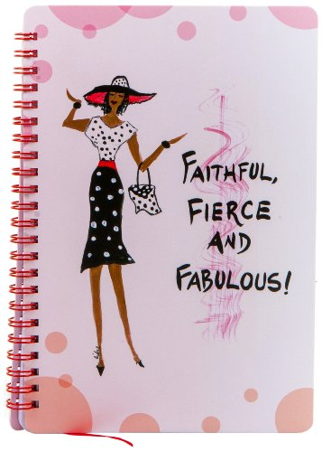 Shades of Color Faithful, Fierce and Fabulous Journal, 5.5 x 8.5 Inches, 140 lined pages (J019)