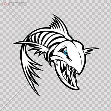 Amazon.com: Calcomanías De Esqueleto Raspa de pescado ...
