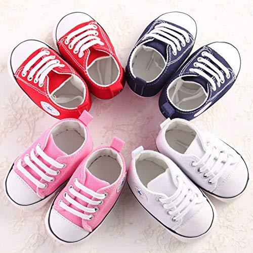 Amazon.com: FidgetKute Zapatos Comodos Zapatitos de Bebe Baby Niña Niño Zapatillas de Recien Nacido Rosado 0-6 meses: Clothing