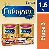 Leche de Crecimiento para Niños mayores de 12 Meses, Enfagrow Premium Etapa 3, En Polvo Paquete especial con 2 latas de 800 gramos cada una