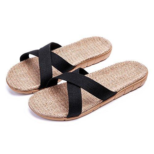 Pantofole Da Casa Traspirante Leggera Bestfor Womens Casual Nere