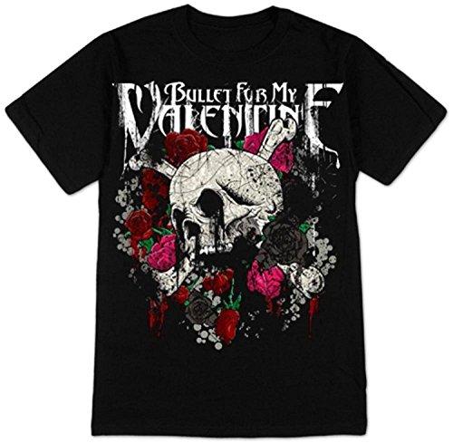 Sun-Tshirt Bullet For My Valentine - Skull and Roses T-Shirt