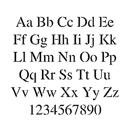 letter and number stencil set 3 inch times new roman font 75 mil
