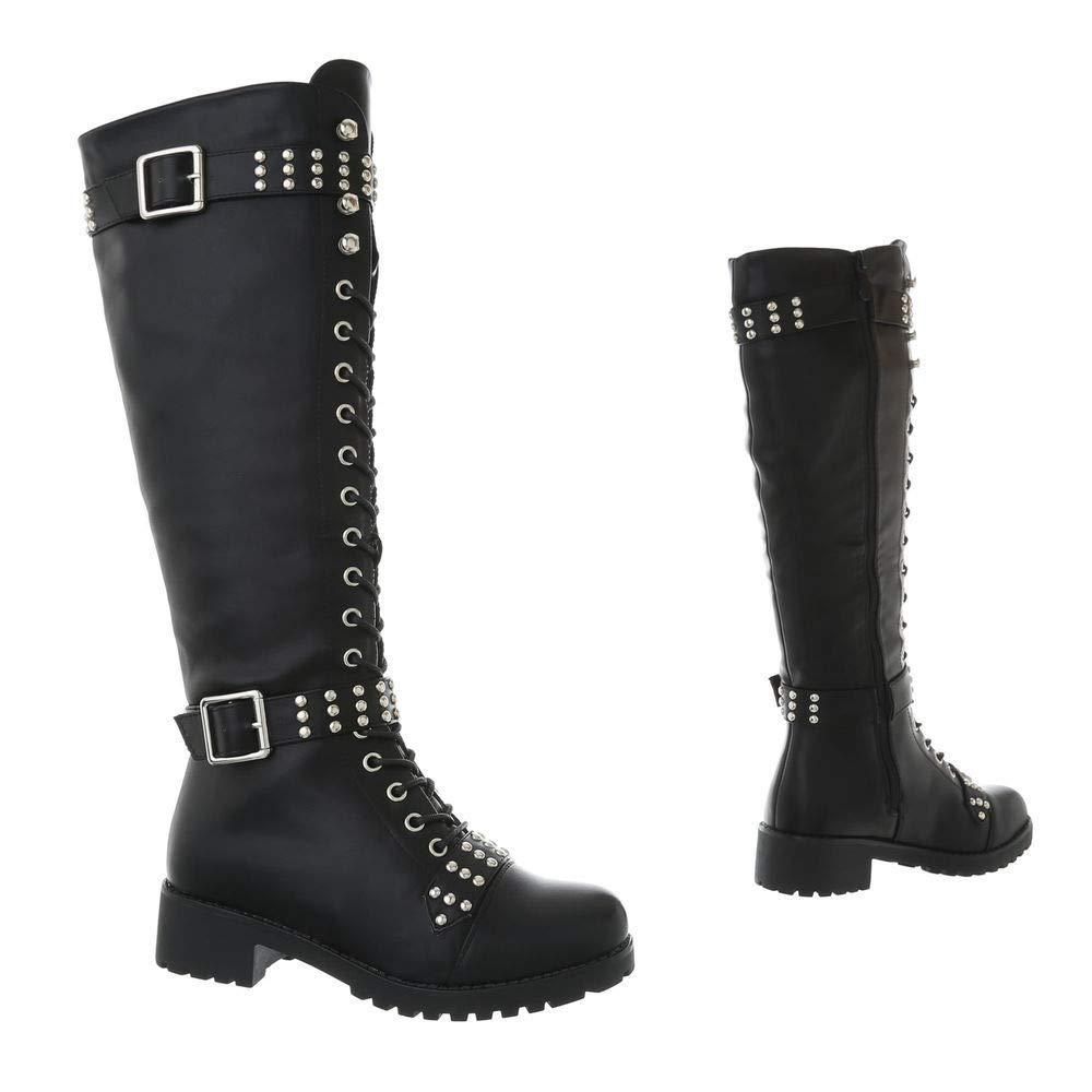 Damen Schuhe Stiefel Schnürstiefel Langschaft Stiefel Schnürer EUR 36-EUR 41 41 41 18e5c2