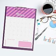 Prancheta Calendário Planner 12 Folhas Personalizadas - Signos