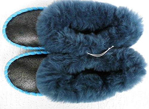 LAMMFELL Warme HAUSSCHUHE Gr.35-35,5 NEU, Schaffell/-leder (Made in Poland 397-05A18)