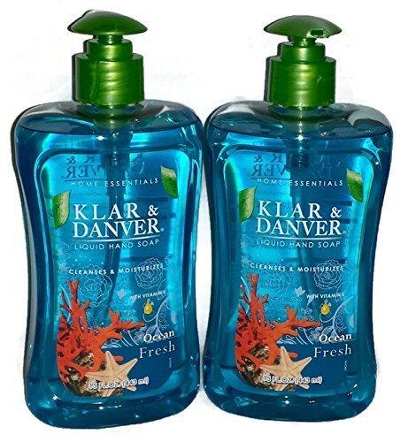 Klar and Danver Liquid Hand Soap. Two, Extra Large 15 Fl Oz Bottles. (Ocean Fresh) by Klar and Danver ()