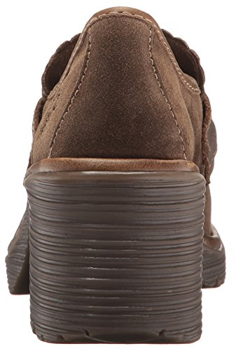 FLY London Women's WEND764FLY Penny Loafer, Sludge/Olive Oil Suede/Rug, 39 M EU (8-8.5 US) by FLY London (Image #2)'