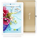 Yuntab 10.1 inch Unlocked 3G WiFi Tablet PC Quad Core Android 5.1 Lollipop MTK 16G Smart Phone 2G 3G WiFi Google Tablet IPS 1280X800 GPS Cellphone (Gold)