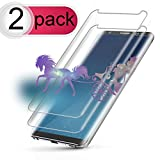 #10: [2-Pack] Galaxy S8 Plus Screen Protector, Auideas Tempered Glass Screen Protector [9H Hardness][Anti-Scratch][Anti-Bubble][3D Curved] [High Definition] [Ultra Clear] for Samsung Galaxy S8 Plus