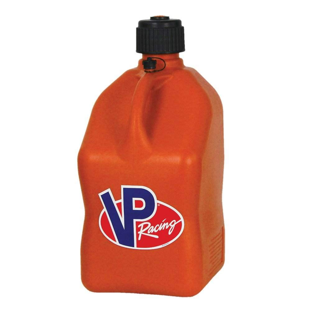 VP 5 Gallon Square Orange Racing Utility Jug by VP Racing Fuels