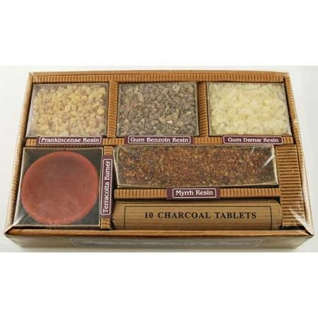 Resin Starter Kit Gift Pack with Burner and Charcoal