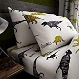 #4: Dinosaurs Single Fitted Sheet and Pillowcase Set