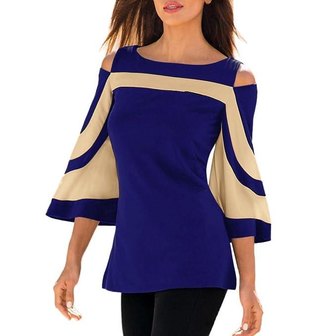 Kolylong Rétro Chemise Femme 2018 Printemps, Koly Été Fille Vêtements Mode  Pullover Chemisier Top Patchwork 06784cae96ab
