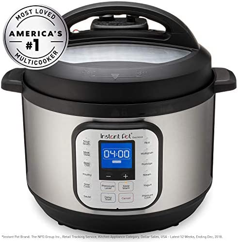 Instant Pot Duo Nova 7-in-1 Electric Pressure Cooker, Slow Cooker, Rice Cooker, Steamer, Saute, Yogurt Maker, and Warmer|10 Quart|Easy-Seal Lid|14 ...
