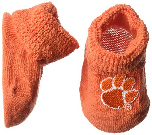Two Feet Ahead NCAA Clemson Tigers Infant Gift Box Booties, One Size, Orange