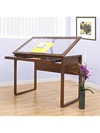 Ponderosa Glass Topped Table / Sonoma Brown